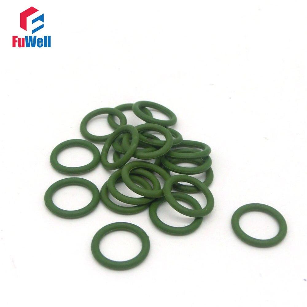20pcs 1.5mm Thickness Green Fluorine Rubber Viton O Ring Seals 4.5/5/5.5/6/6.5/7/7.5/8/8.5/9/9.5mm OD O-rings Gasekt Washer 100pcs lot 2mm thickness 8 22mm outside dia green viton fkm fluorine rubber o ring oil seal o ring gasket repair tool parts