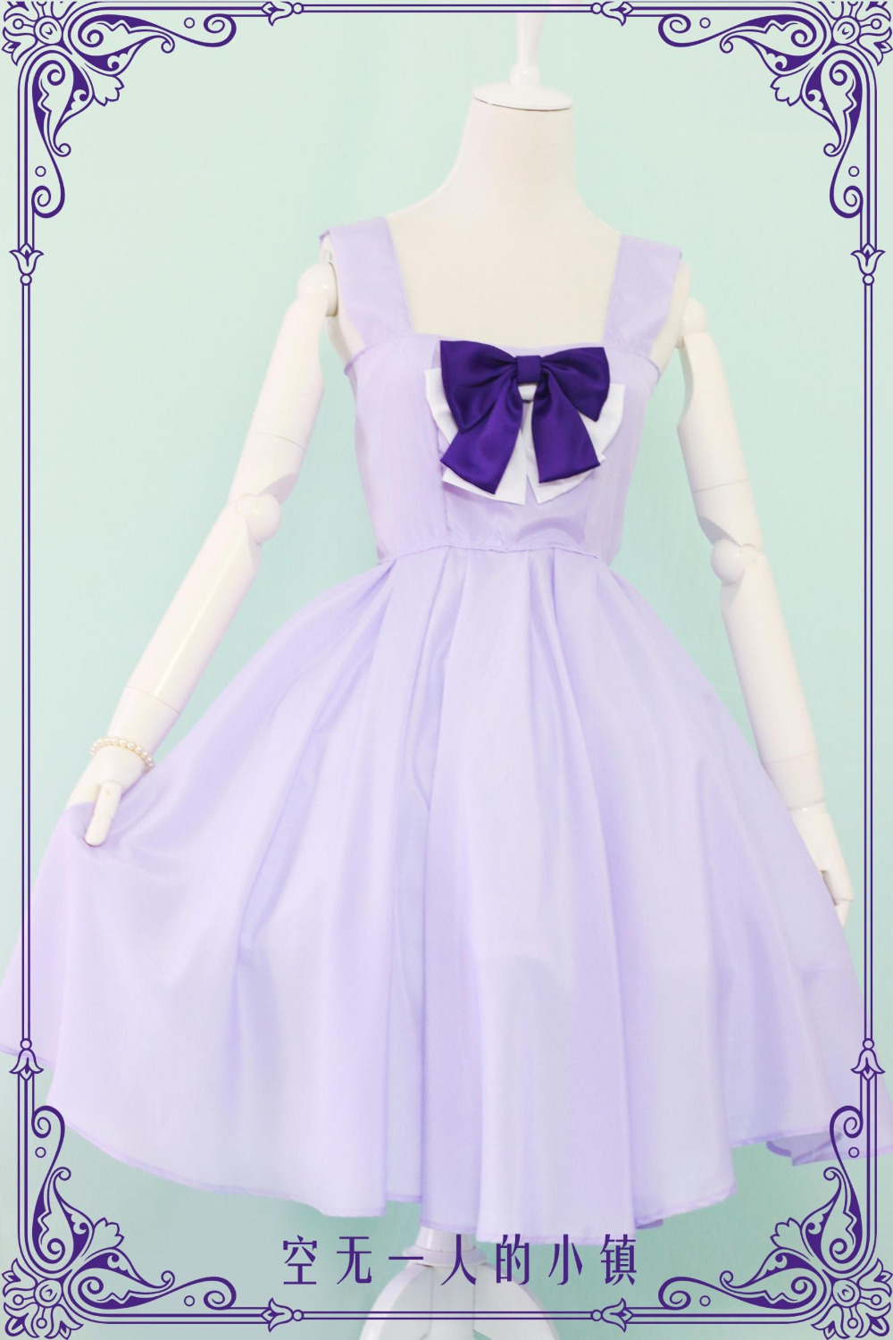 New Anime Chobits Eruda cosplay Costume purple dress