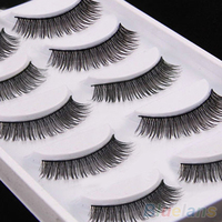 5 Pairs Long Thick Cross Makeup Soft Eye Lashes Extension Beauty False Eyelashes 2SS8