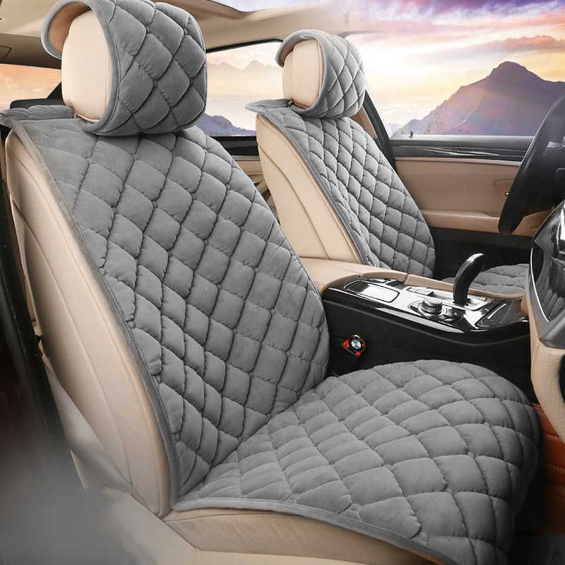 Universal Plush car seat covers Warm faux fur Auto Front Seat Cushion Pad Car Interior Protector fit for 99% Car vehicle