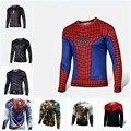 NUEVA alta Calidad 2016 Marvel Capitán América 2 traje de Superhéroe jersey nueva camiseta Hombres EE.UU. cosplay ropa de manga larga 4XL