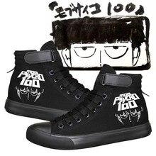 Anime Mob Psycho 100 Handmade Cosplay Shoes Boots Casual Adult Unisex Mobu Saiko Hyaku Mob Costume Canvas Shoes цена и фото