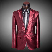 2017 new men's wedding dress studio tuxedo dress and groom hosted emcee suit JACKET + PANT