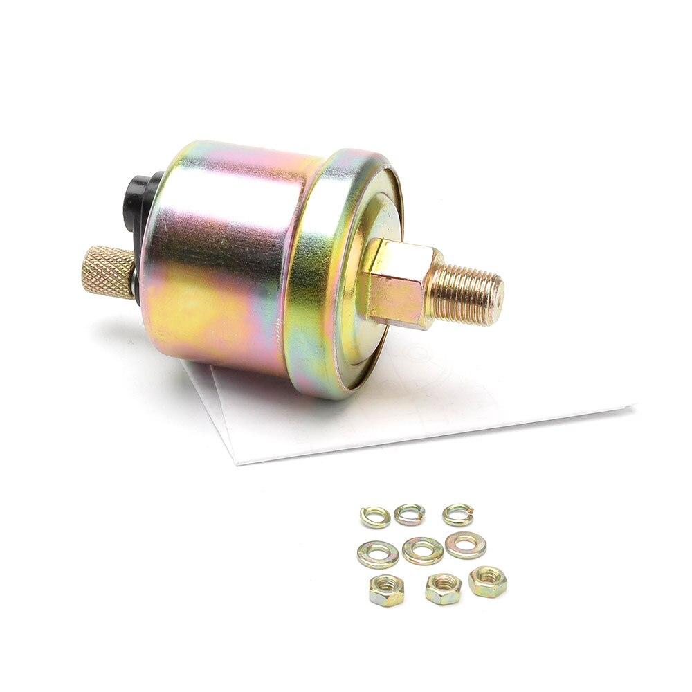 """Автомобильный манометр для масла 0~ 100 фунтов/кв. дюйм """" 52 мм, Универсальный Белый светодиодный Манометр для измерения давления масла 12 В с датчиком 1/8NPT YC101314"""