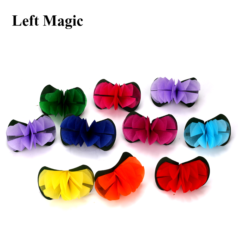 10pcs/Set Flower From Empty Hand Magic Trick ( Paper & Cloth ) Close Up Street Stage Magic Props Professional Magician Illusion eureka single magic cloth