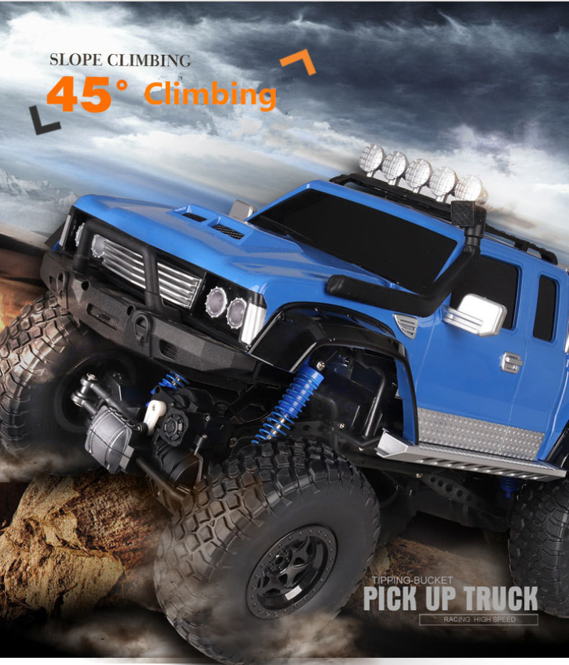 2018 Newest electric Pick up truck model 2.4G 1:8 Scale large 4WD 4 wheel independent suspension RC Electric Fastest RC Truck