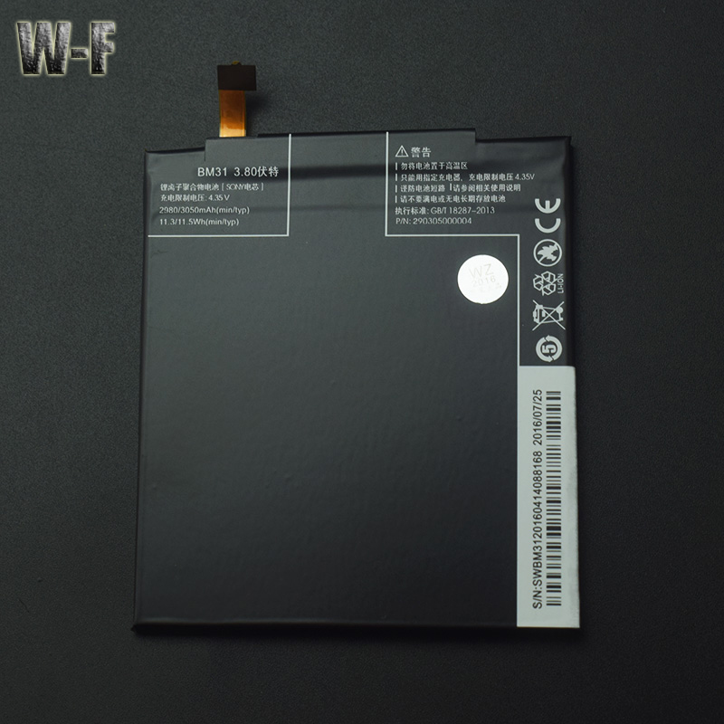 for Xiaomi Mi3 Battery Replacement BM31 High Capacity 3050mAh Li-ION Smart Phone Parts for Xiaomi M3 Mi3