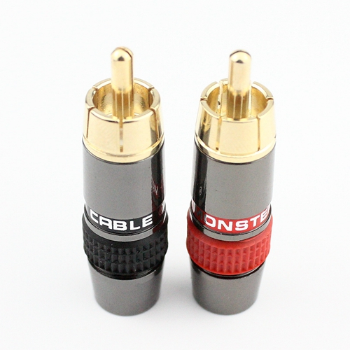4pcs/lot DIY RCA Plug HIFI Goldplated Audio Cable RCA Male Audio Connector Gold Adapter For Cable 4pcs van den hul 8 0mm rca plugs jack extension adapter for diy rca cable