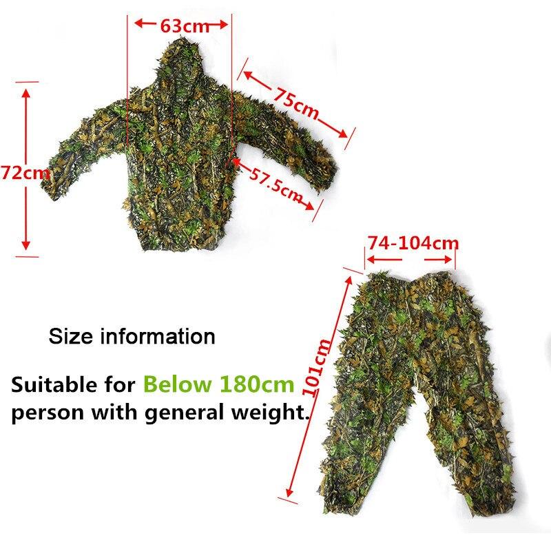 NEW CS 3D Leaf Yowie снайперы Ghillie Suit Джунгли - Спорттық киім мен керек-жарақтар - фото 5