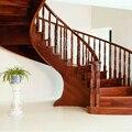 Раздвижной подлокотник из твердой древесины, с поворотом на пол лестницы, перила для дома и римская колонна, спиральная лестницы - фото