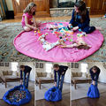 Nueva portátil niños juguetes para niños de almacenamiento Orangizer bolsa para Family Picnic coche Tidy Lego bebé juego de la playa cubren 100 cm