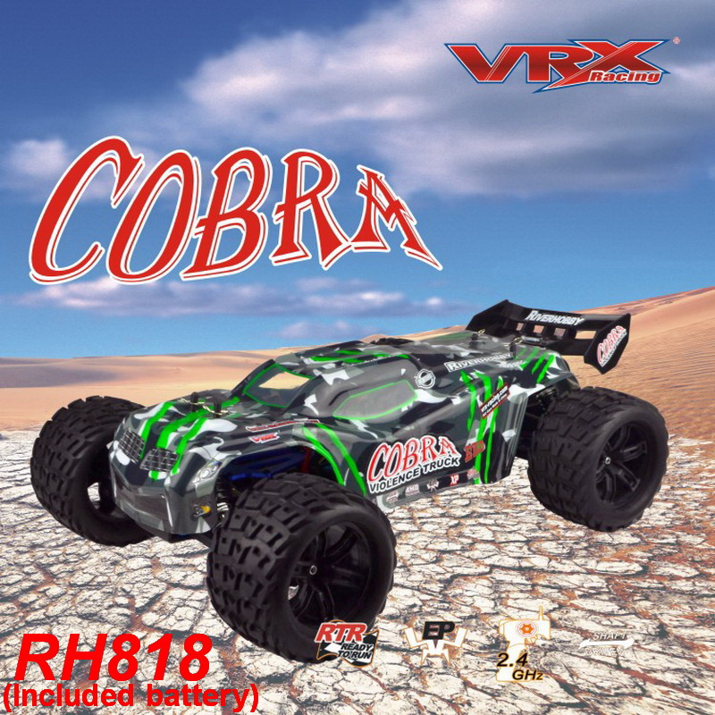 VRX Racing RH818 Cobra 1/8 scale 4WD Electric brushless rc Truck, RTR w/60A ESC/3660 motor/ 11.1V 3250mAH Lipo Battery-in RC Cars from Toys & Hobbies    1
