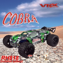 VRX Racing RH818 Cobra 1/8 scale 4WD Electric brushless rc Truck, RTR w/60A ESC/3660 motor/ 11.1V 3250mAH Lipo Battery
