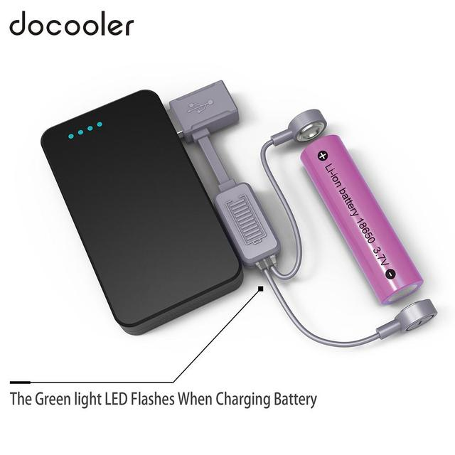 TNFOX T1 Magnetic USB 18650 Li-ion Battery Charger Portable Charging/Discharging Power Bank Multifunctional Magnetic USB Charger