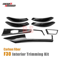 Carbon fiber interior trimming dashboard air trim inter door handle cover For BMW 3 Series F30 GT F34 2012 2015 4 doors sedan