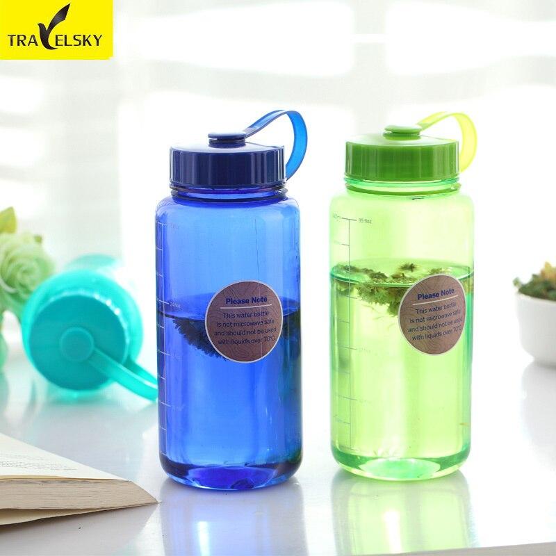 Туристические товары путешествия чашки Портативный Тритан сополиэфиром экологичный воды Стекло 1 шт. бутылка для воды Бесплатная доставка