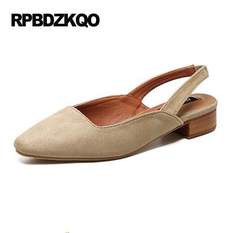 Широкая посадка Женская обувь 2017 Квадратный носок лето замша сандалии удобный Китайский черный женщин эластичный