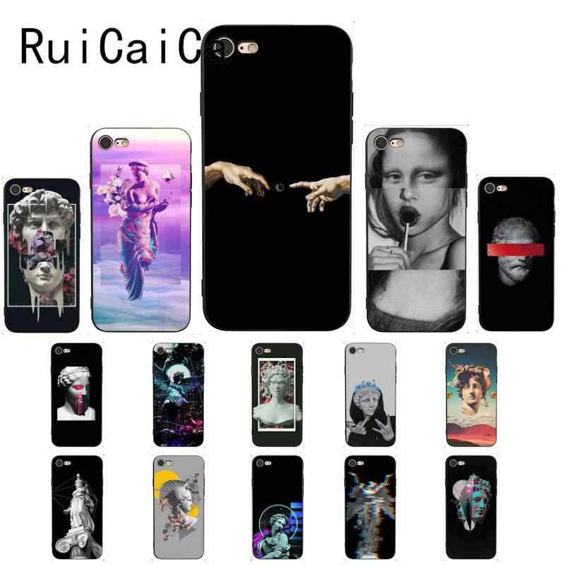 RuiCaiCa Vintage Plaster Statue David Art Print Custom Photo Phone Case for iPhone 8 7 6 6S 6Plus X XS MAX 5 5S SE XR 10 Cover