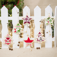 Christmas Decorations For Homen Wooden Five-pointed Star Decoration Pendant Creative Tree Home