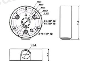 Image 2 - Dahua PFA135 Bullet Camera Support Water proof Junction Box IPC HFW4431M I2 IPC HFW4431R Z