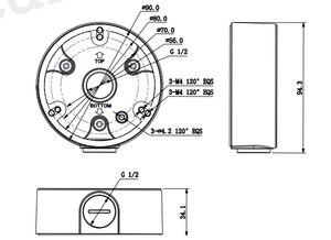Image 2 - 大華PFA135弾丸カメラサポート防水ジャンクションボックスIPC HFW4431M I2 IPC HFW4431R Z