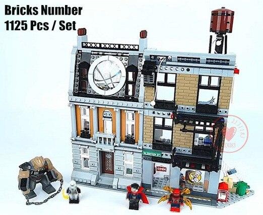 New DR strange Sanctum Sanctorum Showdown fit legoings avengers Infinity war Marvel figures 76108 Building Block Bricks kid gift