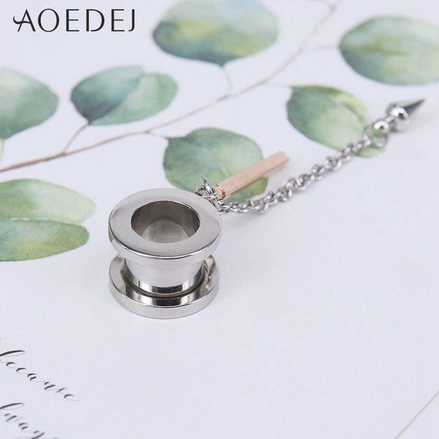 Фото штекер и туннель aoedej для пирсинга ушей штекеры из нержавеющей цена