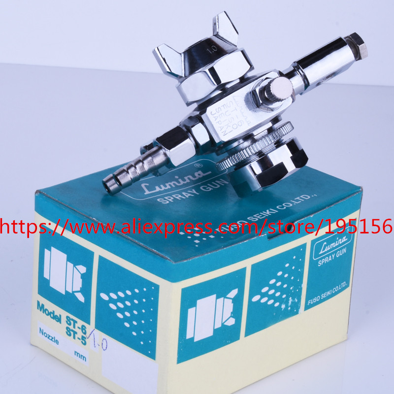 SPRAY GUN Lumina st-6 high atomized sprinkler head for solder wave solder wave solder st-5 automatic 0.5/1.0/1.3/2.0mm nozzle manoli st 6 st 6r automatic spray gun st6 st6rpainting gun 0 5 1 0 1 3 2 0mm nozzle free shipping fan and round pattern