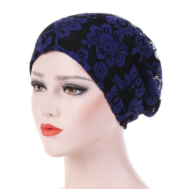 Women India Hat Muslim Ruffle Cancer Chemo Beanie Double Lace For Making Wigs Hair Weaving Stretch Adjustable Wig Cap