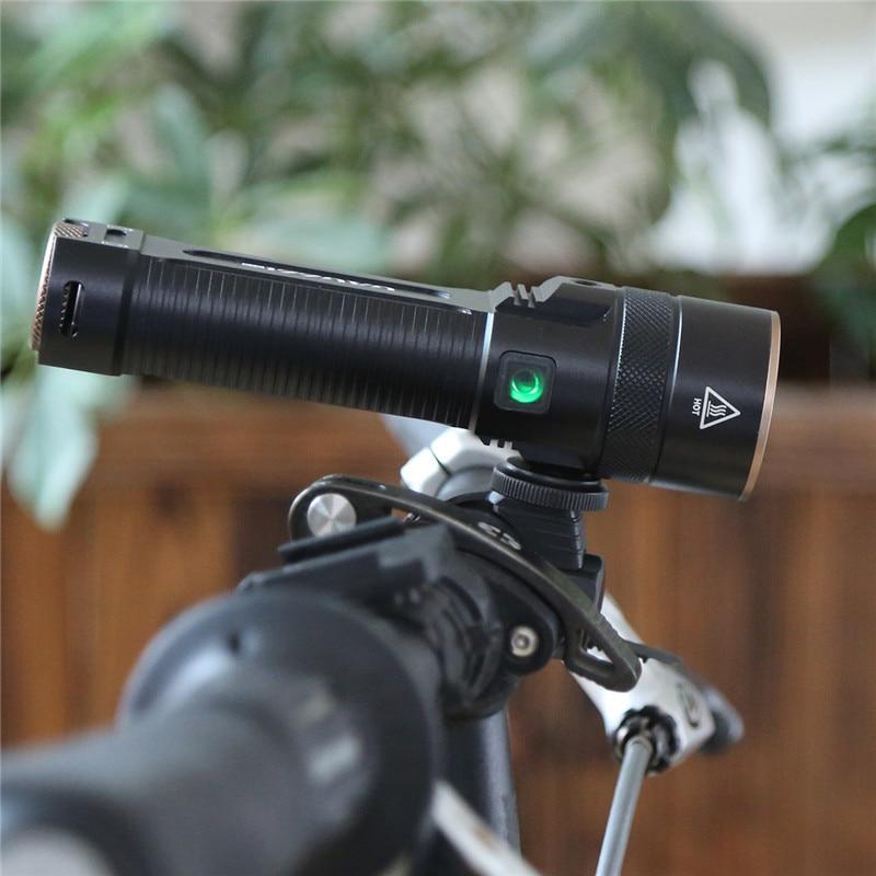 2017 Newest Flashlight LED CREE XM-L2 Flash Light 4-Mode Torch Bike Bicycle Light Outdoor Lighting +18650 Battery +Mount Holder