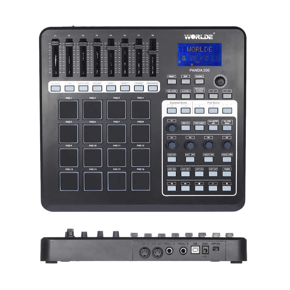 Worlde PANDA200 Portatile USB Tastiera Controller MIDI mini MIDI Controller del Pad 16 Drum Pad con Cavo USB