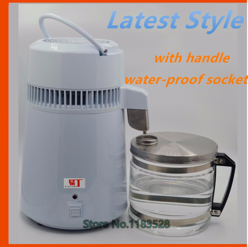 Latest household water distiller electric stainless steel water distill machine for home, dental clinic and laboratory use