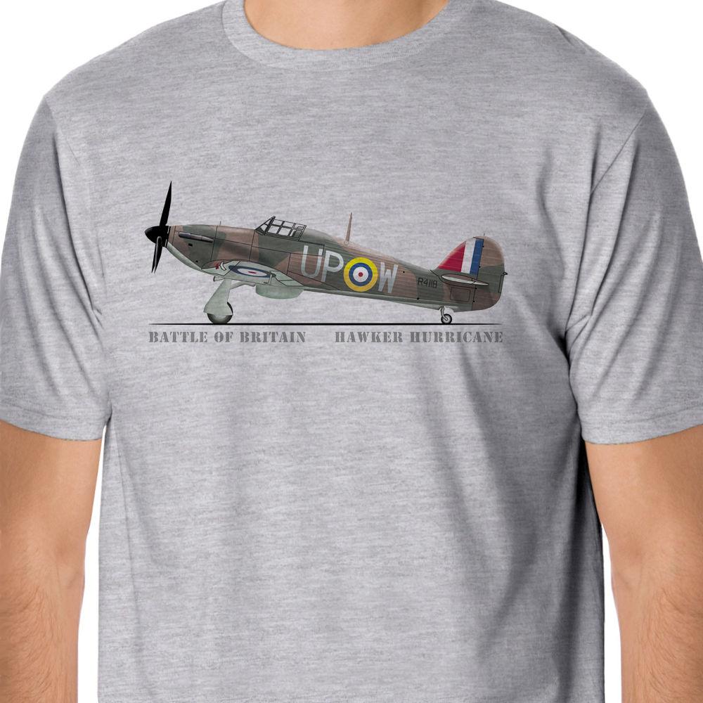 Hot Summer Clothing Cotton Men t-shirt High Quality Battle of Britain Hawker Hurricane shirts Round Neck Crazy Top Tee T shirt