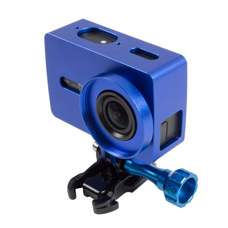 Prix pour Orbmart Métal Cadre Étui de protection + 37mm UV Filtre Pour Xiaomi Yi 2 Xiaoyi 2 4 K Action Sport Caméra CNC Couvercle En Aluminium