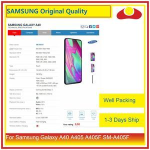 "Image 3 - Original 5,9 ""Für Samsung Galaxy A40 A405 A405F SM A405F LCD Display Mit Touch Screen Digitizer Panel Pantalla Komplette"