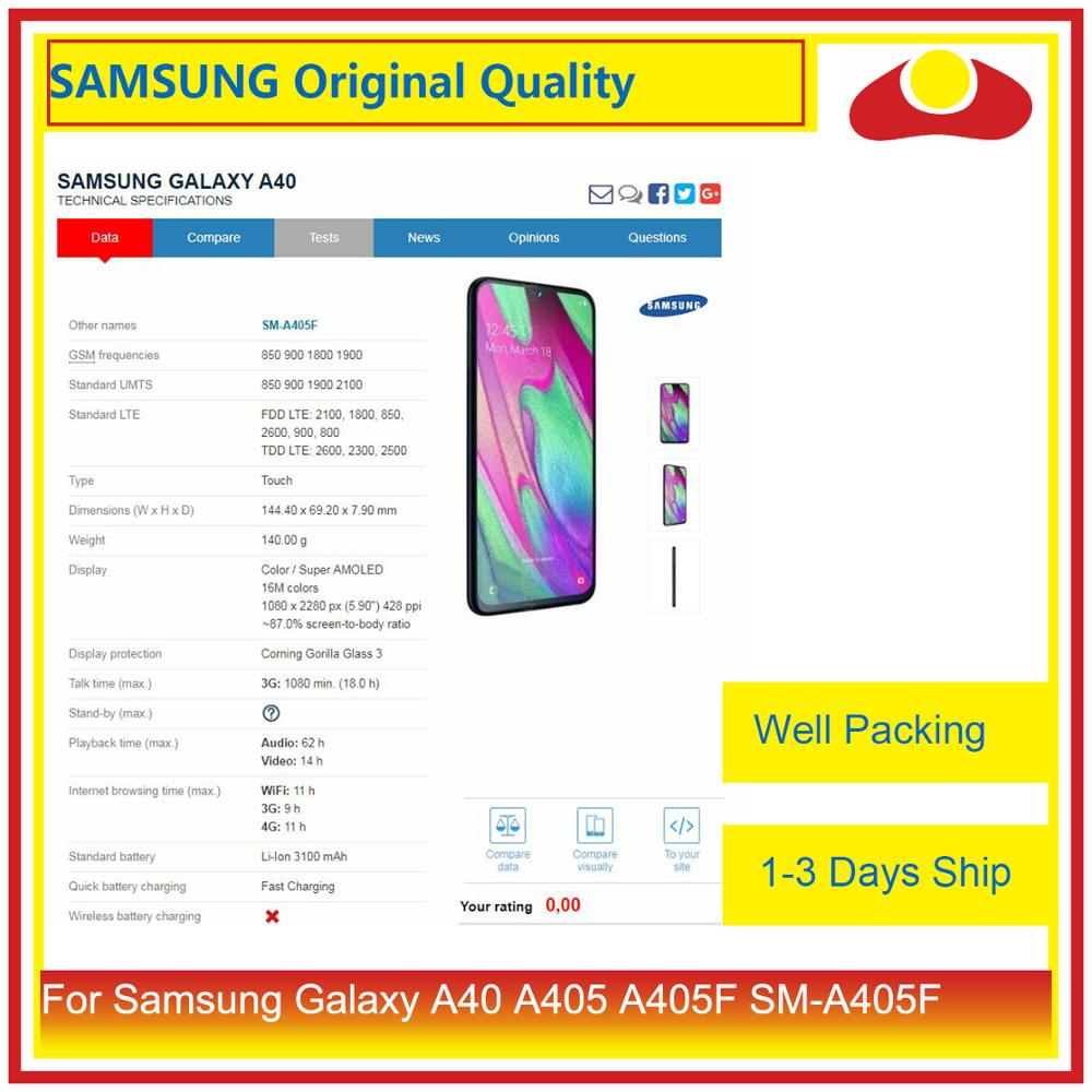 "Image 3 - Original 5.9"" For Samsung Galaxy A40 A405 A405F SM A405F LCD Display With Touch Screen Digitizer Panel Pantalla Complete-in Mobile Phone LCD Screens from Cellphones & Telecommunications"