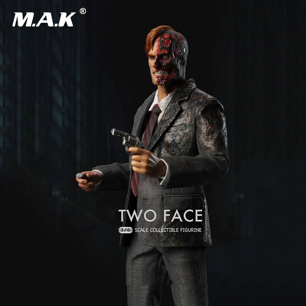 Collectible Figure 1:6 Scale Two Face Male Full Action Figure Batman Series Harvey Dent Collectible Figure Model Toys Gift 1 6 scale full set male action figure kmf037 john wick retired killer keanu reeves figure model toys for gift collections