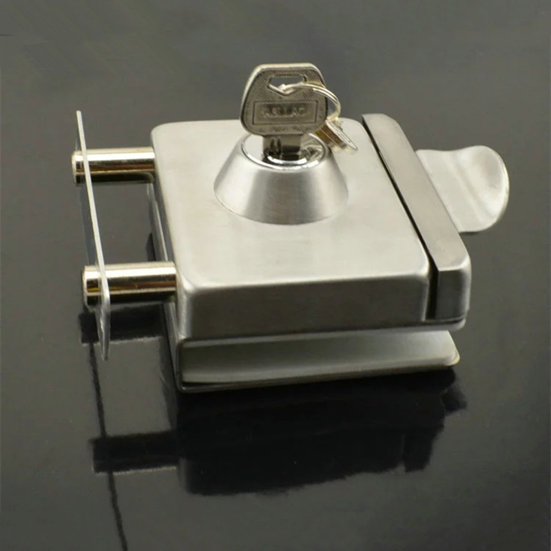 High Quality Best Selling Without Drilling Stainless Steel Glass Door Lock With Keys KF315 high quality tr1000 tr2020 900168 26 selling with good quality