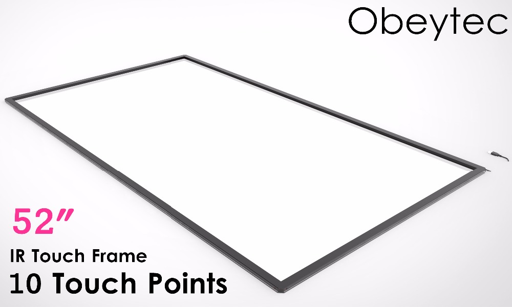 "Obeytec 52"" 10 Touch Points Touch Screen, IR Touch Frame, USB Port, Driver Free, FAST SHIPPING"