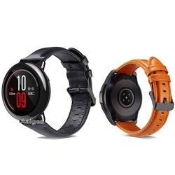 Модные кожаные часы ремешок для Xiaomi Huami Amazfit PACE Замена наручных полос ремешок для amzafit pace мужской браслет 22 мм