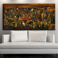 Xdr486 Famous People Painting Discussing The Divine Comedy With Dante Oil Painting Prints Poster For Living