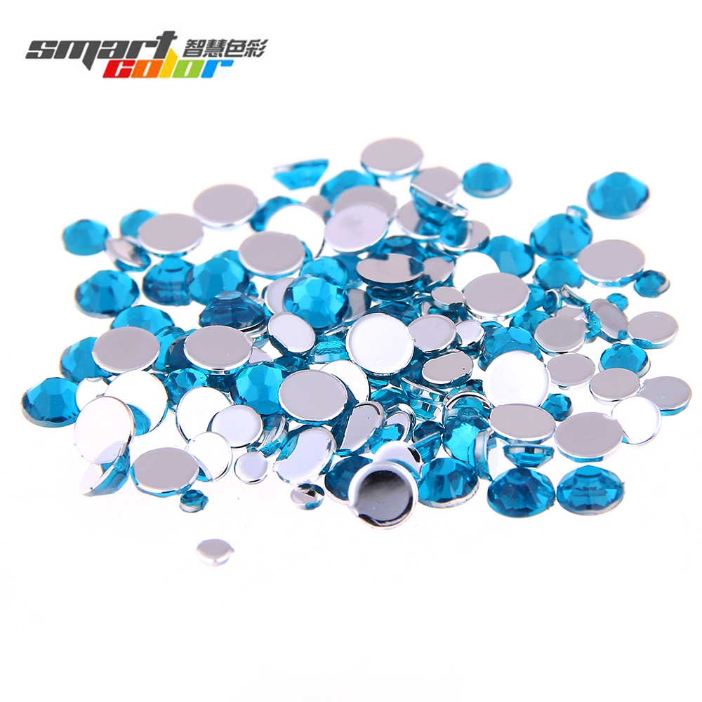 Smart Color Dark Aquamarine Color Acrylic Rhinestones Shoes Sparkling Nail Art Decorations Clothing Decorations Small Pack