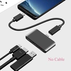 Image 2 - USB C محور إلى HDMI 4K Dex محطة لسامسونج غالاكسي S8 S9 ملاحظة 8 9 Nintend التبديل مع PD USB 3.0 ل جديد باد برو ماك بوك برو