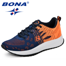 BONA Mens Casual Shoes Autumn Breathable Light Sneakers Footwear Fashion Zapatillas Krasovki Men Outdoor Comfortable Trainers