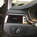 Frente Interior Console AC Ar Condicionado Saída de Ventilação Guarnição 7 PCS LHD Para Audi A4 B9 8 W 2017