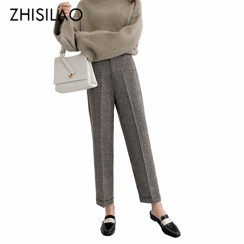 5e255cef5789c Buy plaid pants wool and get free shipping on AliExpress.com