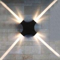 Thrisdar 12W Feixe Estreito Cruz Da Estrela CONDUZIU a Lâmpada de Parede Cruz Ao Ar Livre À Prova D' Água Luz Da Varanda de Parede Villa Hotel Parede Exterior luz|Luminárias de parede externas| |  -