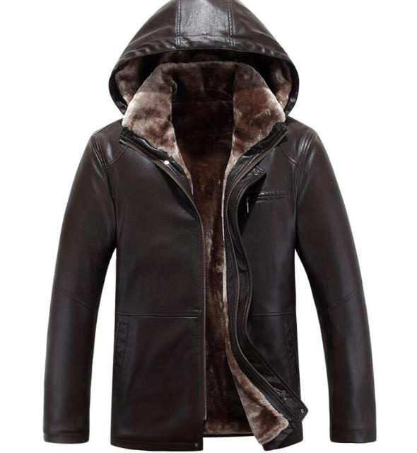 bdfff0c64 US $87.2 20% OFF|S 4XL HOT 2019 Winter Men New Leisure Fashion Removable  Cap Sheepskin Fur One Jacket-in Genuine Leather Coats from Men's Clothing  on ...