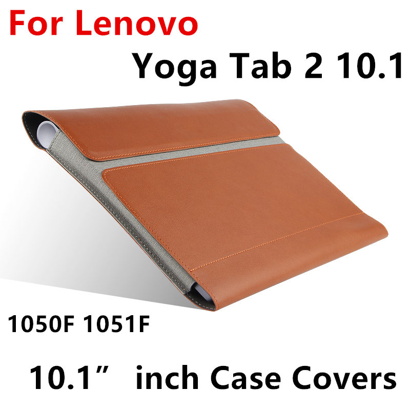 Galleria fotografica Case For Lenovo Yoga Tablet 2 10 Protective cover Leather For YOGA Tab 2 10 1050F 1051F 1050L Protector Sleeve 10.1
