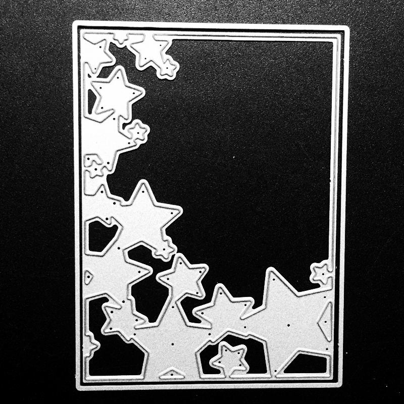 SCD864 Star Cover Metal Cutting Dies For Scrapbooking Stencils DIY Album Cards Decoration Embossing Folder Die Cuts Template New
